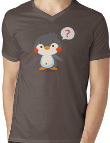 Questionmark and penguin - DozerFever  Mens V-Neck T-Shirt