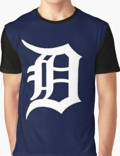 Detroit Tigers Nice Typograph Graphic T-Shirt