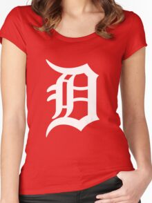 Detroit Tigers Nice Typograph Women's Fitted Scoop T-Shirt