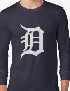 Detroit Tigers Nice Typograph Long Sleeve T-Shirt