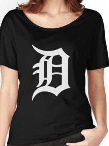Detroit Tigers Nice Typograph Women's Relaxed Fit T-Shirt