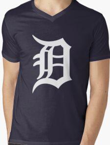 Detroit Tigers Nice Typograph Mens V-Neck T-Shirt