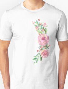 Pink Watercolor Flower Bouquet Unisex T-Shirt