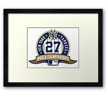 New York Yankees World Championships Framed Print