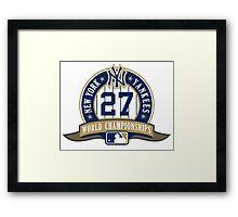 New York Yankees World Championships Framed Print