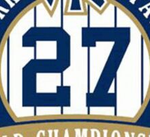 New York Yankees World Championships Sticker