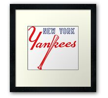 New York Yankees Old Logo Framed Print