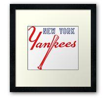 New York Yankees Old Logo Framed Print