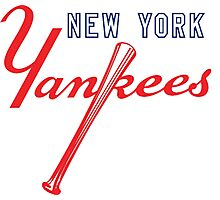 New York Yankees Old Logo Photographic Print