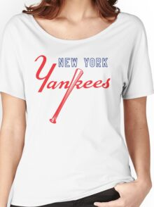 New York Yankees Old Logo Women's Relaxed Fit T-Shirt