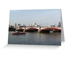 Waterloo Bridge, London, England Greeting Card