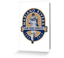 Mariano Rivera New York Yankees Legend Greeting Card
