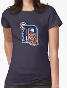Detroit Tigers Basic Mascot Womens Fitted T-Shirt