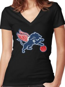 Detroit Tigers Collabse Women's Fitted V-Neck T-Shirt