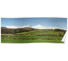 The Coniston Fells from Lowick Poster