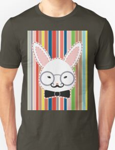 Rabbit Head with Glasses Unisex T-Shirt