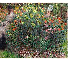 1875-Claude Monet-Ladies in Flowers  Photographic Print