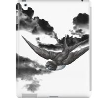 monochrome bird iPad Case/Skin