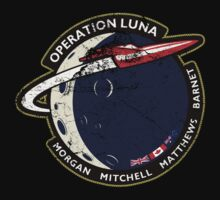 Journey Into Space - Operation Luna Mission Patch - Distressed One Piece - Short Sleeve