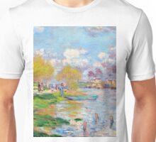 1875-Claude Monet-Spring by the Seine-50 x 61 Unisex T-Shirt