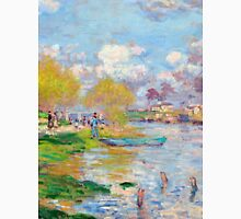 1875-Claude Monet-Spring by the Seine-50 x 61 Unisex T-Shirt