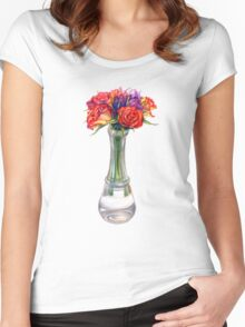 Bouquet of roses Women's Fitted Scoop T-Shirt