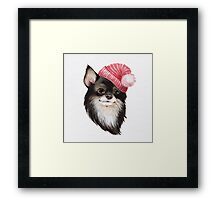 Chihuahua wearing a hat Framed Print