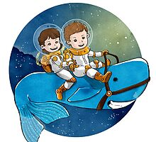 Baby Astronauts & A Whale by ickhwano
