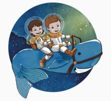 Baby Astronauts & A Whale Kids Tee
