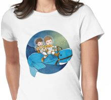 Baby Astronauts & A Whale Womens Fitted T-Shirt