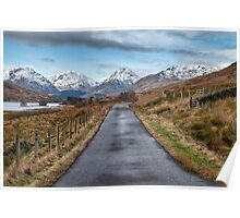 On the Road to Inversnaid in Scotland Poster