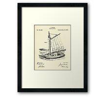 Reefing Sails-1880 Framed Print
