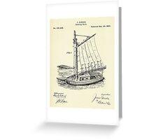 Reefing Sails-1880 Greeting Card