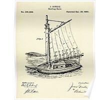 Reefing Sails-1880 Poster
