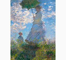 1875-Claude Monet-Woman with a Parasol - Madame Monet and Her Son-81 x 100 Unisex T-Shirt