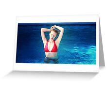 Pool Dreams by Benjamin Joseph Global Greeting Card