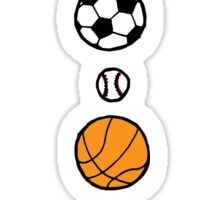 Sports, mostly balls, but colourful Sticker