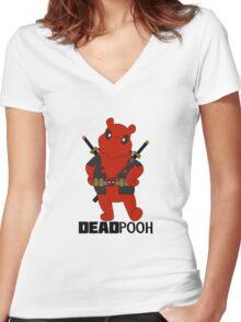 DEADPOOH! Women's Fitted V-Neck T-Shirt