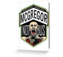 Conor Mcgregor, The Notorious Greeting Card