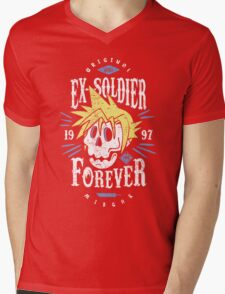 Ex-Soldier Forever Mens V-Neck T-Shirt