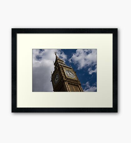 British Symbols and Landmarks - Big Ben, the Iconic Clock Tower of the Palace of Westminster Framed Print