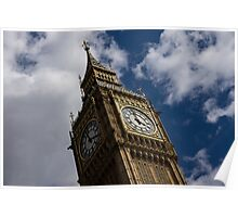 British Symbols and Landmarks - Big Ben, the Iconic Clock Tower of the Palace of Westminster Poster
