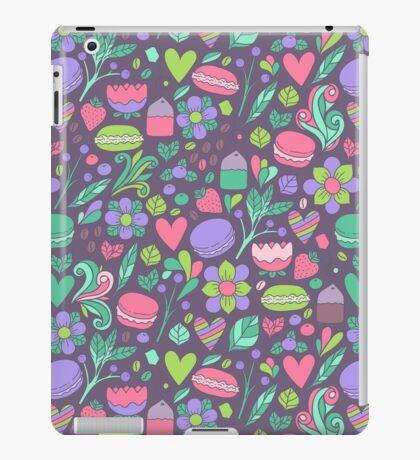 Macarons and flowers iPad Case/Skin