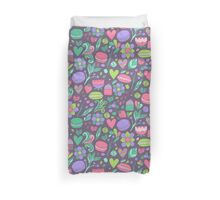 Macarons and flowers Duvet Cover