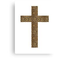 Leopard cross Canvas Print