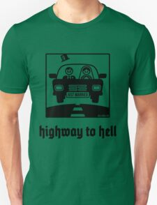 Just Married – Highway To Hell (1C) Unisex T-Shirt