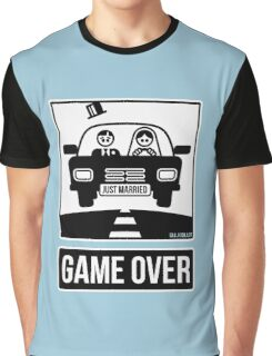 Just Married – Game Over (2C) Graphic T-Shirt