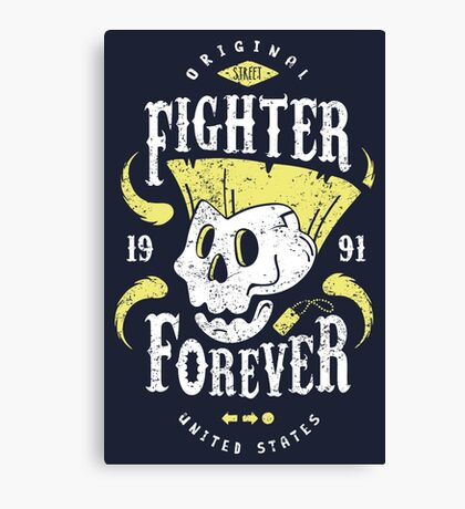 Fighter Forever Guile Canvas Print