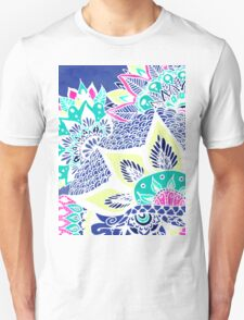 Bohemian navy floral mandala paisley watercolor Unisex T-Shirt