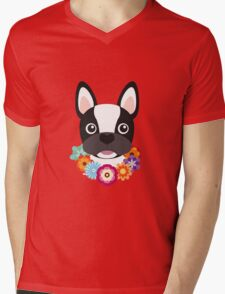 French Bulldog Mens V-Neck T-Shirt